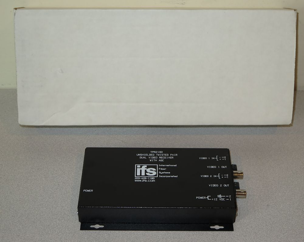 Details about GE Interlogix IFS TPR2100 Twisted Pair Dual Video Receiver  with AGC